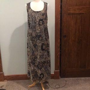 Black brown and grey patterned Studio 1 dress.